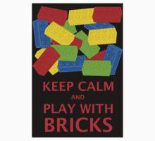 KEEP CALM AND PLAY WITH BRICKS Baby Tee