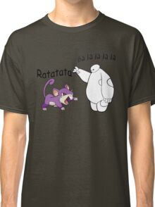 Baymax and Ratata Pokemon Fist Bump Classic T-Shirt