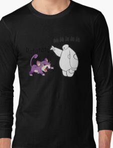 Baymax and Ratata Pokemon Fist Bump Long Sleeve T-Shirt