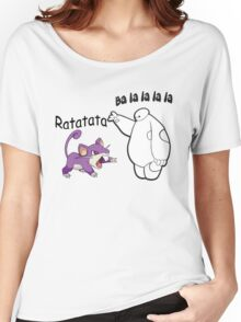 Baymax and Ratata Pokemon Fist Bump Women's Relaxed Fit T-Shirt