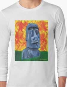Easter Island Moai - Shirt Long Sleeve T-Shirt