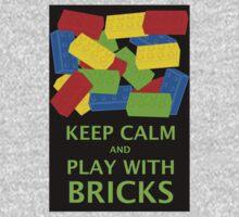 KEEP CALM AND PLAY WITH BRICKS Kids Tee