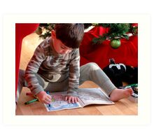 A picture for Santa! Art Print