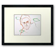 le silence 1 Framed Print