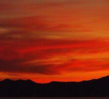 Distant Mountain Silhouette ~Willard Utah by Jan  Tribe