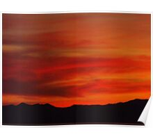Distant Mountain Silhouette ~Willard Utah Poster
