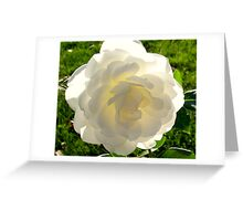 Plugged in Rose Greeting Card