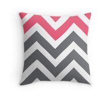 Coral Peaks Throw Pillow