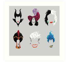 6 Villains Art Print