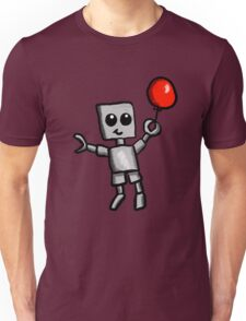 Robot and Balloon  Unisex T-Shirt