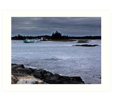 Blue Rocks, Late October Art Print