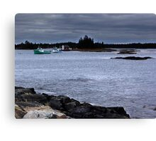Blue Rocks, Late October Canvas Print