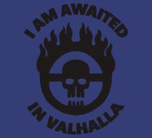 Mad Max - Warboy Skull Wheel - 'I Am Awaited In Valhalla' T-Shirt