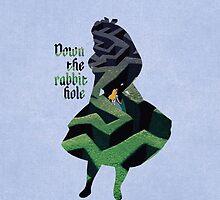 Down The Rabbit Hole - Alice in Wonderland - Disney Inspired by still-burning