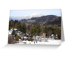 Mirror Lake Inn, Village of Lake Placid NY Greeting Card