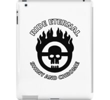 Mad Max - Warboy Skull Wheel - 'Ride Eternal Shiny and Chrome' iPad Case/Skin