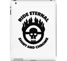 Mad Max - Warboy Skull Wheel - 'Ride Eternal Shiny and Chrome' iPad Case/Skin
