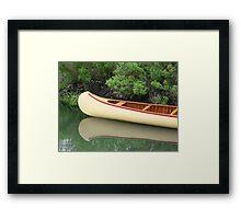 Kodachrome Canoe Framed Print