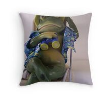 Froggy The Freeloader Throw Pillow