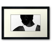 Black Ankh Framed Print