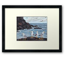 Craigs N Gulls ~ Oil Painting Framed Print