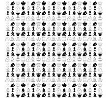 Chess Pieces Pattern Photographic Print