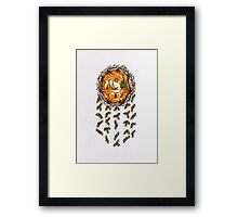 A Winter Mandela with Holly Framed Print