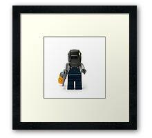 Welder Minifig Framed Print