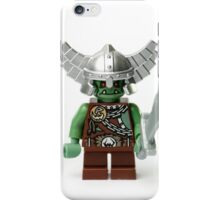 Boring old green angry short man Minifig with a sword iPhone Case/Skin