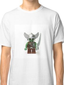 Boring old green angry short man Minifig with a sword Classic T-Shirt