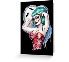Gothabilly night of the dead Greeting Card