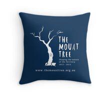 The Mouat Tree - white Throw Pillow