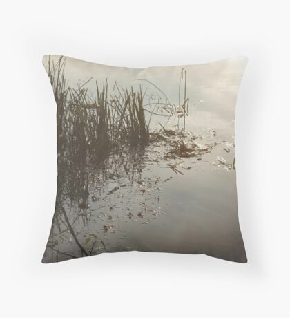 Reeds on Econfina Throw Pillow
