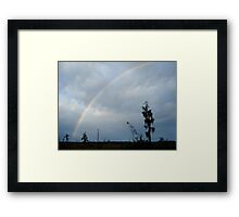 Rainbow over Econfina Creek 12/09 Framed Print