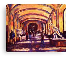 Sculptures in the Louvre Canvas Print