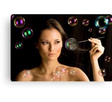 Exploding Bubbles Canvas Print