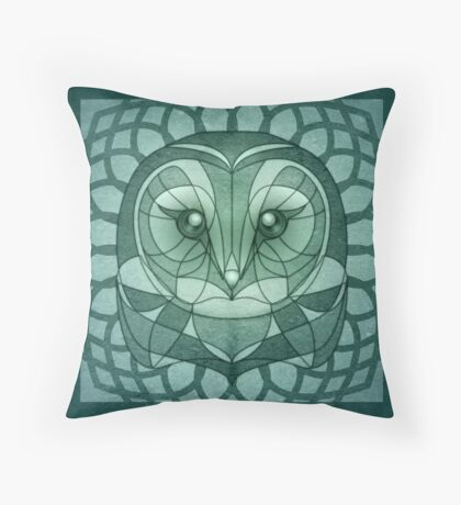 The Minty Fresh Owling Throw Pillow