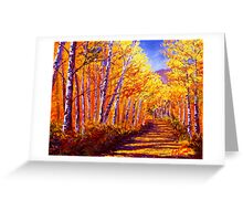 Aspen Mountain Road Greeting Card