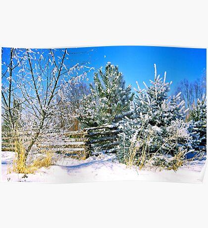 Idaho Winter Scene 1, USA Poster