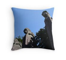 Three Lions Throw Pillow