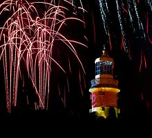 Smeatons Tower Fireworks by TimbosPics