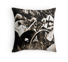 Face The Enemy Throw Pillow