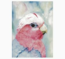 Australian Galah Cockatoo Watercolour Painting  Kids Clothes
