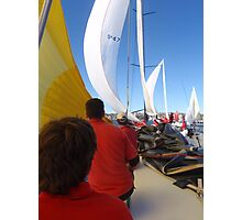 Sailing on maxi yacht Broomstick, Australia Photographic Print