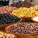 Market Series - A bounty of olives by Christine Oakley