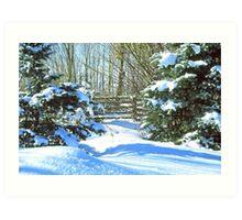 Idaho Winter Scene 2, USA Art Print