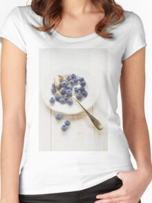blueberry Women's Fitted Scoop T-Shirt