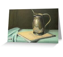 Silver Pitcher on Bach Score Greeting Card
