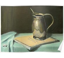 Silver Pitcher on Bach Score Poster