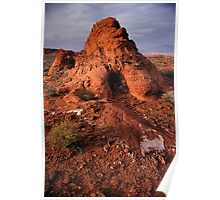Rock Mound in the Valley of Fire, Nevada Poster